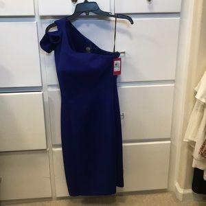 One-Shoulder Sheath Cocktail Dress
